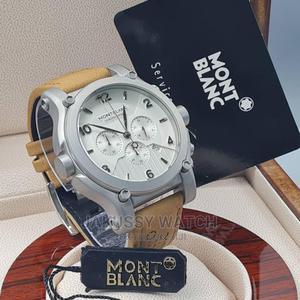 Montblanc Genuine Leather Wrist Watch High Quality Warranty | Watches for sale in Lagos State, Lagos Island (Eko)