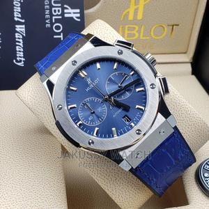 Hublot Leather Wrist Watch High Quality With Warranty | Watches for sale in Lagos State, Lagos Island (Eko)