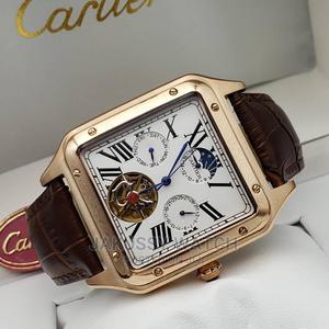 Cartier Genuine Leather Wrist Watch High Quality Warranty | Watches for sale in Lagos State, Lagos Island (Eko)
