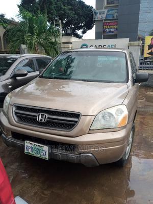 Honda Pilot 2004 EX 4x4 (3.5L 6cyl 5A) Gold | Cars for sale in Lagos State, Ikorodu