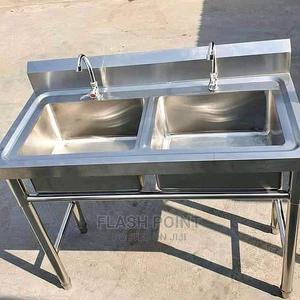 Double Bolw Sink Stainless Steel Available | Store Equipment for sale in Lagos State, Amuwo-Odofin