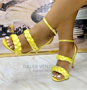 """Classic 3.5"""" Satin Heels Sandals Packaged in Branded Box 