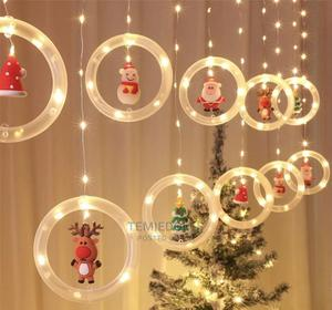 Christmas Santa Curtain LED Party Home Office Hotel Lights   Home Accessories for sale in Lagos State, Lekki