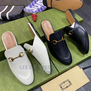 """*Gucci Leather Princetown Slippers """"Black and White"""" 