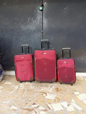 Triple Zippered Swiss Polo Trolley Luggage Red Bag   Bags for sale in Lagos State, Ikeja