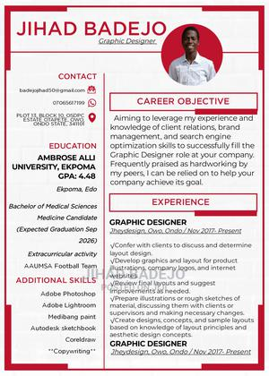Graphic Designer | Advertising & Marketing CVs for sale in Ondo State, Owo