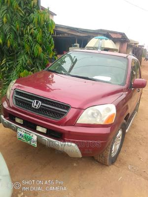 Honda Pilot 2004 EX 4x4 (3.5L 6cyl 5A) Red | Cars for sale in Lagos State, Ejigbo