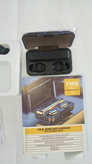 F9 Wireless Bluetooth V5.1 Earphones With Power Bank   Headphones for sale in Lagos State, Ikeja