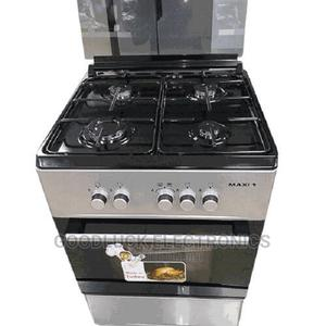 Maxi 50 X 50 4 Burner Standing Gas Cooker - Silver | Kitchen Appliances for sale in Lagos State, Ikeja