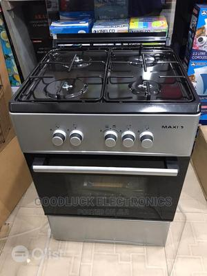 Maxi 4 Burner Standing Gas Cooker With Oven Auto Ignition | Kitchen Appliances for sale in Lagos State, Ikeja