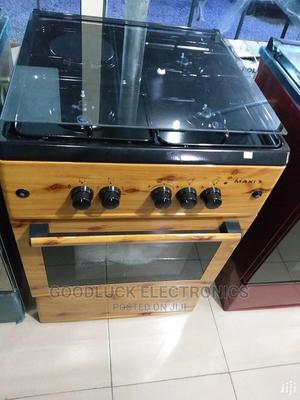 Maxi 60*60 3 Gas 1 Electric Electric Standing Cooker- Wood | Kitchen Appliances for sale in Lagos State, Ikeja