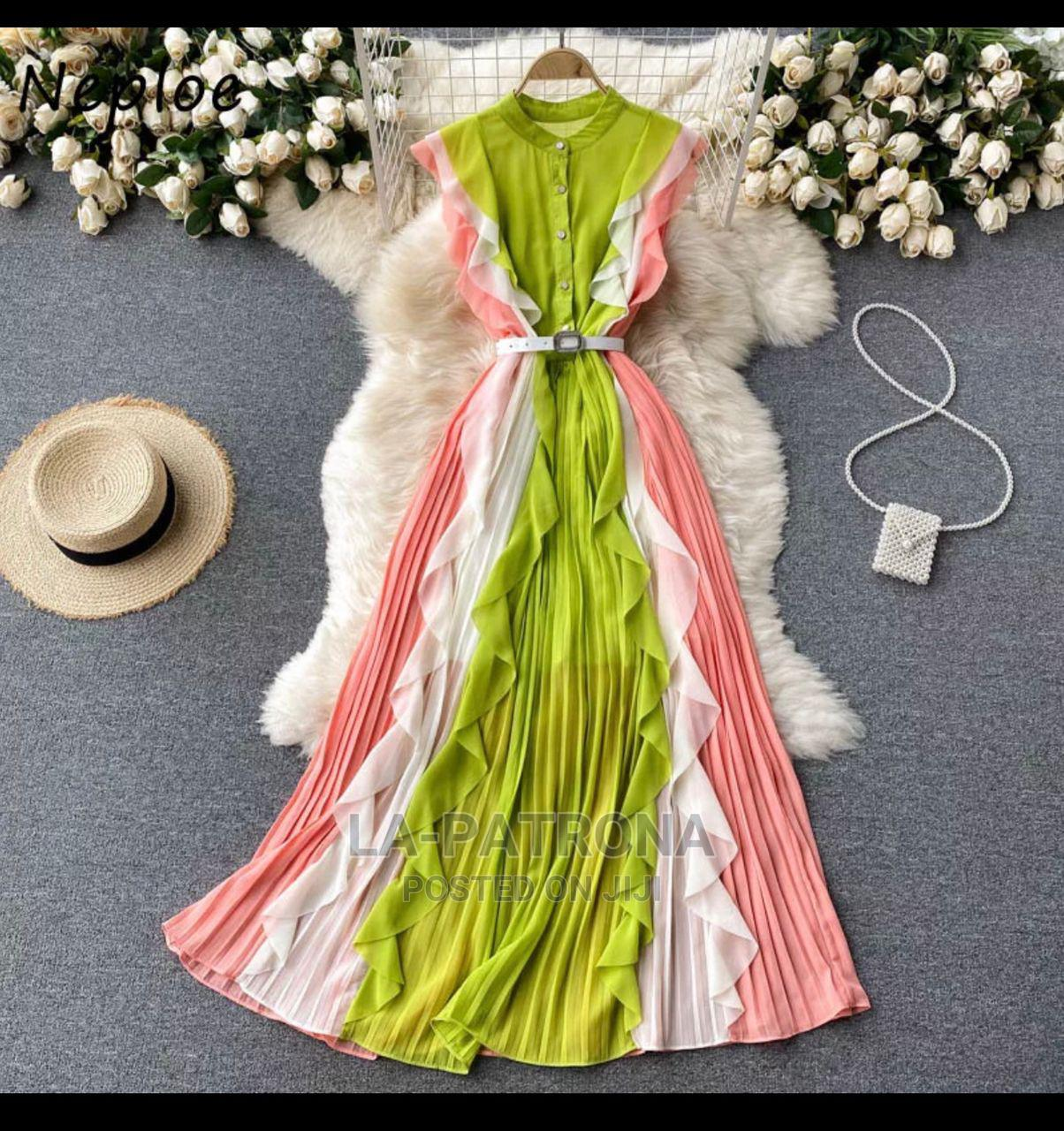 New Quality Female Colourful Gown