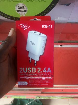 Itel 2usb 2.4A Charger   Accessories for Mobile Phones & Tablets for sale in Kwara State, Ilorin East