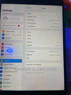 Apple iPad Pro 10.5 (2017) 64 GB Silver   Tablets for sale in Lagos State, Surulere