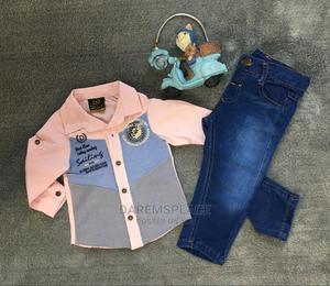 Cotton Shirt and Jean Trouser 2pcs Boys Clothing Set | Children's Clothing for sale in Lagos State, Alimosho