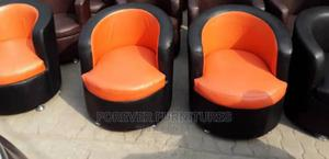 Single Seater Sofa Chair, Black and Orange   Furniture for sale in Lagos State, Ojo