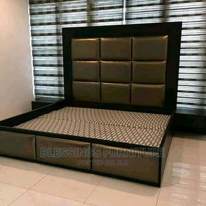 Quality 6 by 6 Bed Frame With Bed Side   Furniture for sale in Lagos State, Ikeja