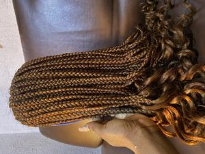 Fulani Braided Wig With Curly Tips | Hair Beauty for sale in Lagos State, Ikotun/Igando