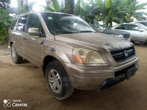 Honda Pilot 2005 EX 4x4 (3.5L 6cyl 5A) Gold | Cars for sale in Akwa Ibom State, Uyo