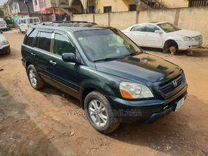 Honda Pilot 2004 EX-L 4x4 (3.5L 6cyl 5A) Blue | Cars for sale in Lagos State, Isolo