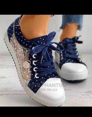 Ladies Casual Poker-Dot Sneakers   Shoes for sale in Lagos State, Ogudu