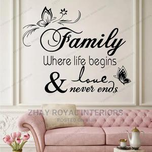 DIY Family Love Never Ends Quotes Wall Sticker | Home Accessories for sale in Lagos State, Alimosho