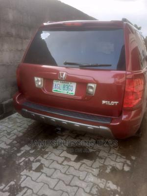 Honda Pilot 2004 EX 4x4 (3.5L 6cyl 5A) Red | Cars for sale in Lagos State, Ajah