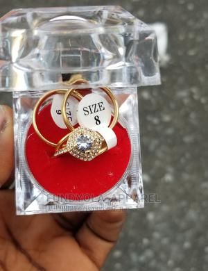Stainless Steel Gold Wedding Ring Set | Wedding Wear & Accessories for sale in Lagos State, Ajah