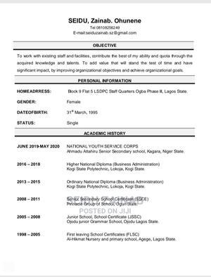 Sales Telemarketing CV   Sales & Telemarketing CVs for sale in Lagos State, Ikeja