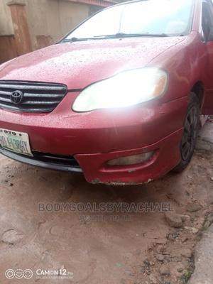 Toyota Corolla 2004 Sedan Automatic Red | Cars for sale in Lagos State, Shomolu