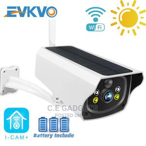 Evkvo 3mp IR LED Night Vision Solar Wifi Camera   Security & Surveillance for sale in Lagos State, Ojo