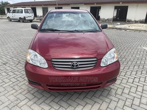 Toyota Corolla 2003 Sedan Automatic Red | Cars for sale in Lagos State, Ajah