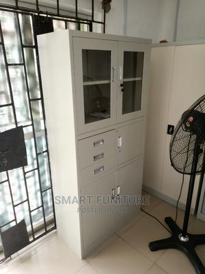 Imported Half Glass Metal Cabinet With Safe | Furniture for sale in Lagos State, Lekki