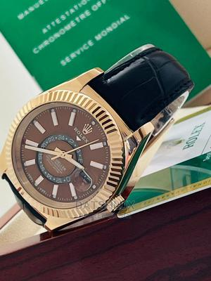 Rolex Men Wristwatch With Leather Strap | Watches for sale in Lagos State, Lagos Island (Eko)