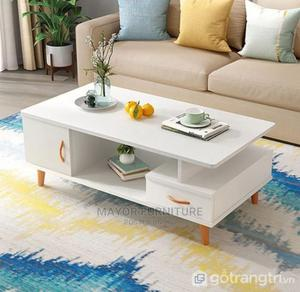 Modern White Center Table With Wooden Legs   Furniture for sale in Lagos State, Alimosho