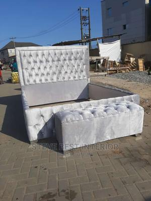 6/6 Upholstery Bed Frame With Automan   Furniture for sale in Lagos State, Ojo