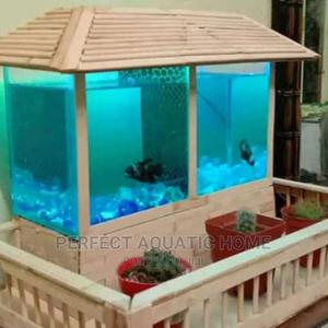 Aquarium With Flower Sitting | Pet's Accessories for sale in Lagos State, Surulere