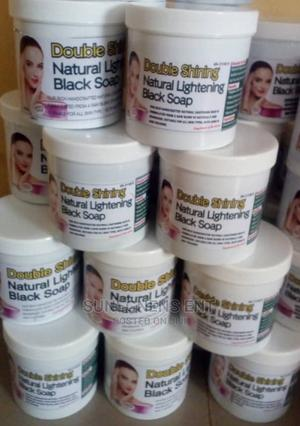 Double Shining Natural Lightening Black Soap   Bath & Body for sale in Lagos State, Alimosho