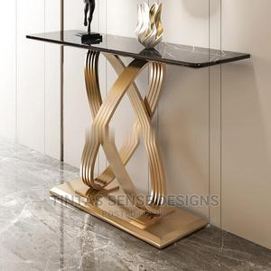 Infinity Gold Marble Console Table | Furniture for sale in Lagos State, Lekki