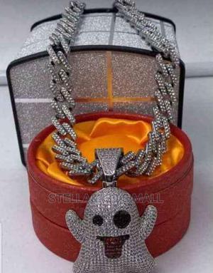 Ice Cuban Chain With Clown Pendant.   Jewelry for sale in Lagos State, Lagos Island (Eko)