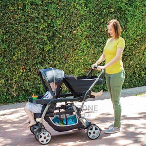 Graco Ready2grow Click Connect LX Double Stroller, Glacier | Prams & Strollers for sale in Lagos State, Lagos Island (Eko)