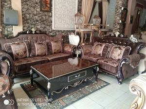 Sofas Coffee Brown Fabric   Furniture for sale in Lagos State, Ojo