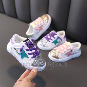 Boy Girl Unisex Shimmer Star Sneakers | Children's Shoes for sale in Lagos State, Alimosho
