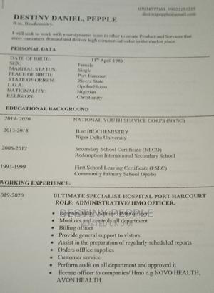 Healthcare Administrative Staff | Healthcare & Nursing CVs for sale in Rivers State, Port-Harcourt
