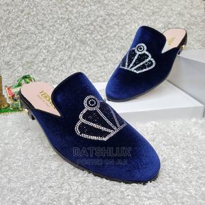Versace Blue Velvet Men'S Half Shoes | Shoes for sale in Lagos State, Lagos Island (Eko)
