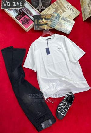 High Quality PRADA White T-Shirts for Men Available in Store | Clothing for sale in Abuja (FCT) State, Wuse 2