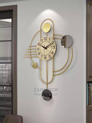Galaxy Luxury Gold Wall Clock for Home/Office - 54 X 76cm | Home Accessories for sale in Lagos State, Alimosho