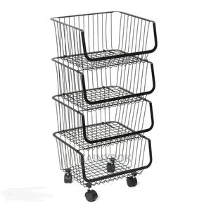 4 Tier Fruit Vegetable Storage Basket With Wheels | Kitchen & Dining for sale in Lagos State, Alimosho