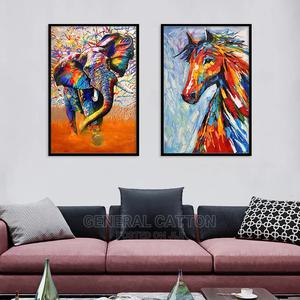 Watercolor Animal Decorative Painting Living Room Canvas | Arts & Crafts for sale in Lagos State, Victoria Island