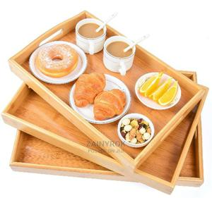 3 Piece Set of Bamboo Tray | Kitchen & Dining for sale in Lagos State, Alimosho